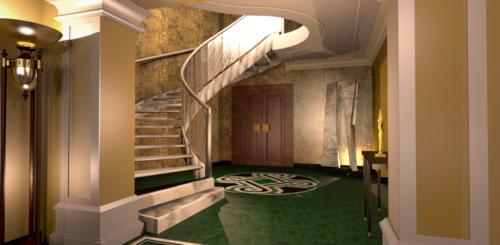 """Arte Dell' Abitare - Progetto di Restyling  dell' Hotel  """"La Griffe"""" - Scala - Rendering : Maria Gabriella Milinci - Charlotte Brancuci"""